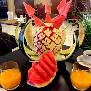 hotel-fruehstueck-wassermelonendesign